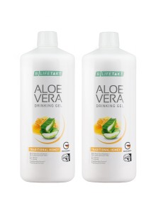 Aloe Vera Drinking Gel au miel en pack de 2